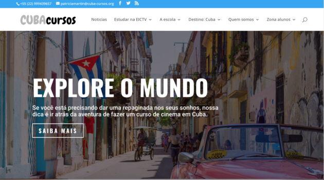 Sitio web Cuba-cursos 3.0