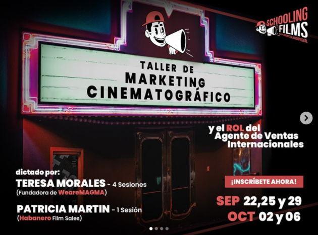 Taller Marketing Cinematográfico. Schooling Films. Perú
