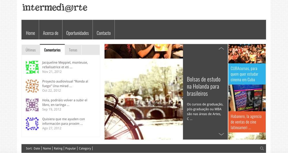 Sitio web Intermedi@rte 2.0
