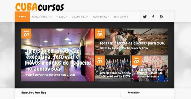 Sitio web Cuba-cursos 2.0